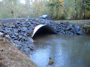 Upper Duffy Cr Culvert - After - Oct 2010