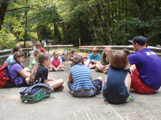 Discussion at Rock Creek Camp