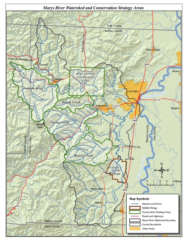 Watershed Maps Marys River Watershed Council