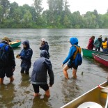 Day 3 Watershed Down Camp, preparing to launch canoes