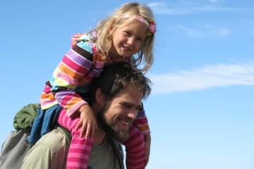 Dad and Daughter at Marys Peak Tour