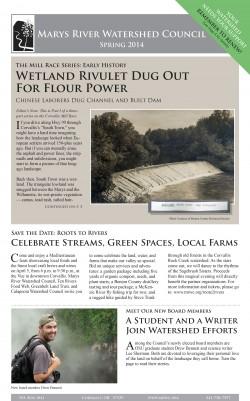 cover of Spring 2014 newsletter